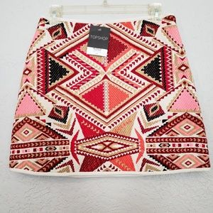 TOPSHOP skirt NWT - SW pattern Size 6 $68